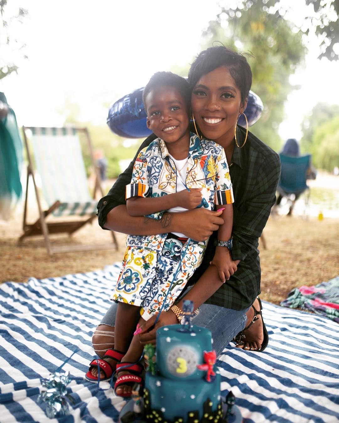 Tiwa Savage Is A Doting Mom As She Shares Photos With Son, Jamil, For His 3rd Birthday