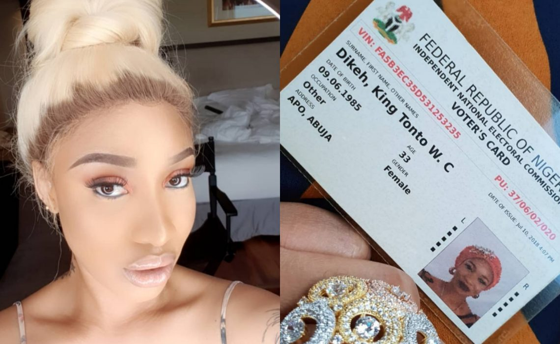 Tonto Dikeh Shows Off Her PVC