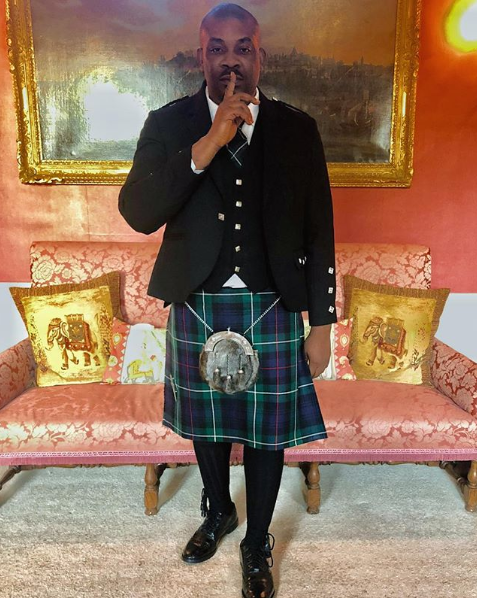 Don Jazzy Rocks A Skirt, Reveals The Unimaginable