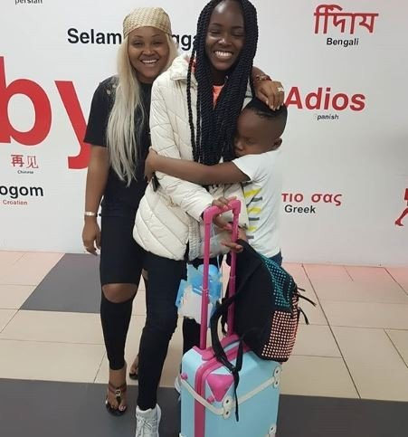 Mercy Aigbe Is Emotional As She Sends Off Daughter, Michelle To School Abroad
