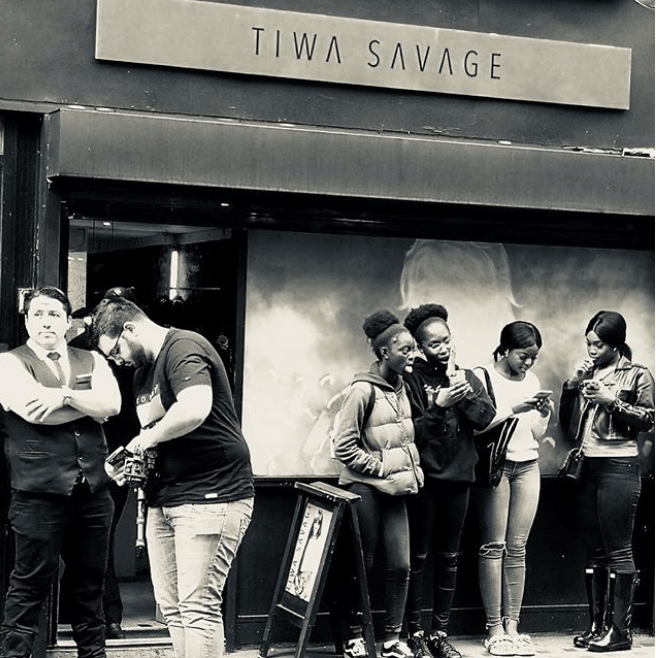 [PHOTOS] Tiwa Savage Opens Pop Up Shop In London