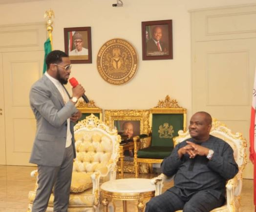 Rivers State Governor, Nyesom Wike Hosts D'banj At The State House