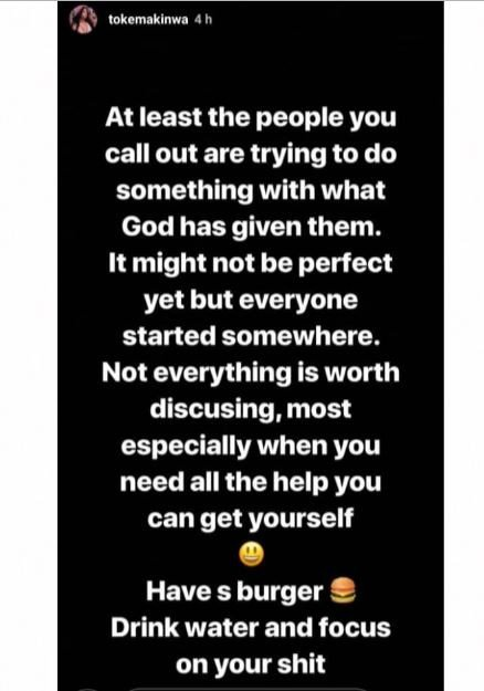 Toke Makinwa Is Out Here Dishing Advice