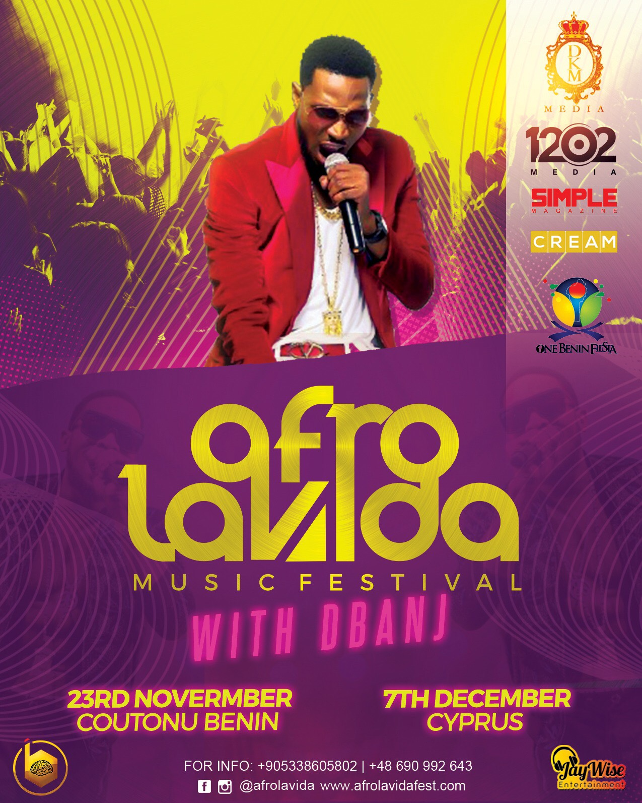 D'BANJ GOES ON TOUR WITH AFROLAVIDA MUSIC FESTIVAL