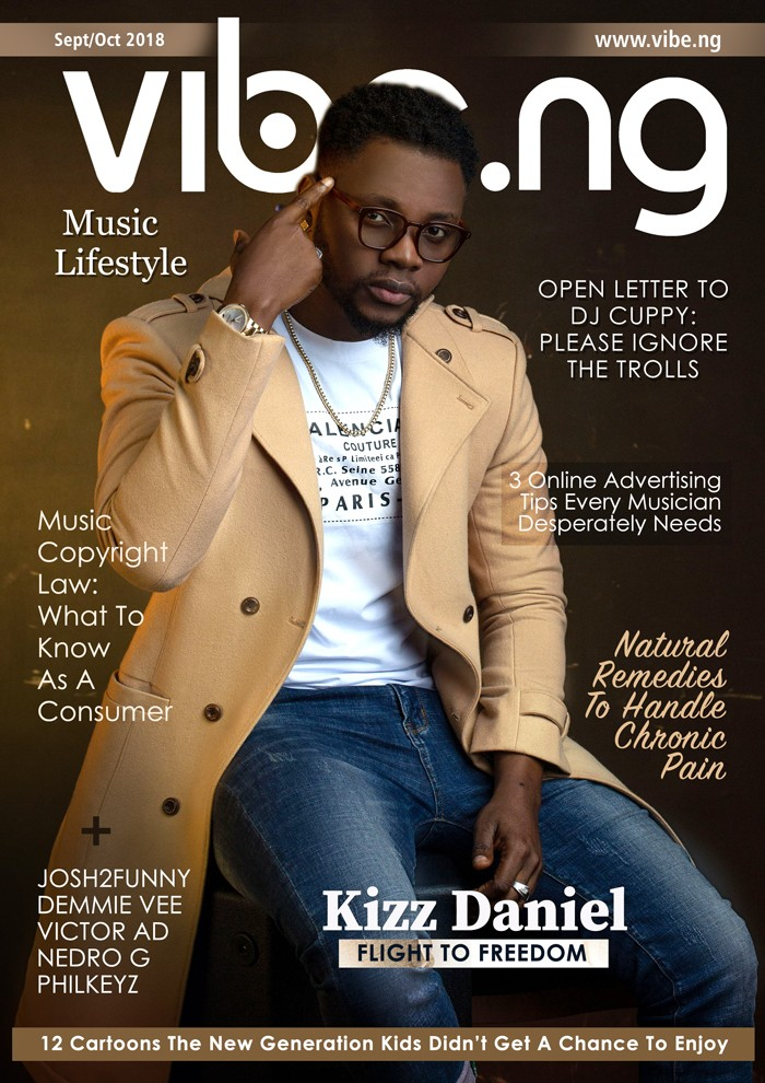 Kizz Daniel is the cover star of Vibe.ng latest magazine issue