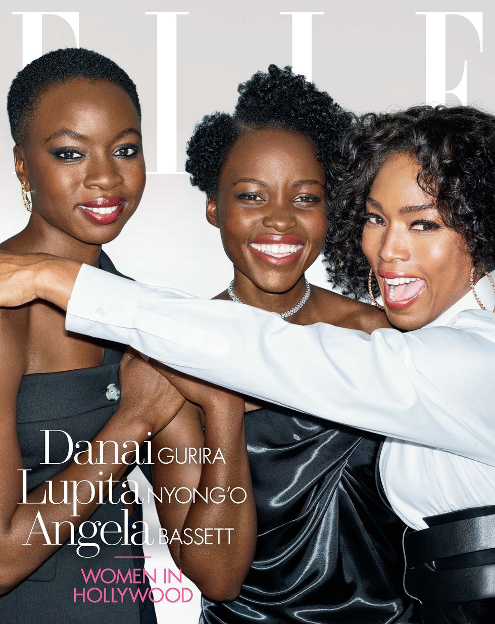 The Women of Wakanda! Lupita Nyong'o, Danai Gurira And Angela Bassett Cover Elle USA's November Issue