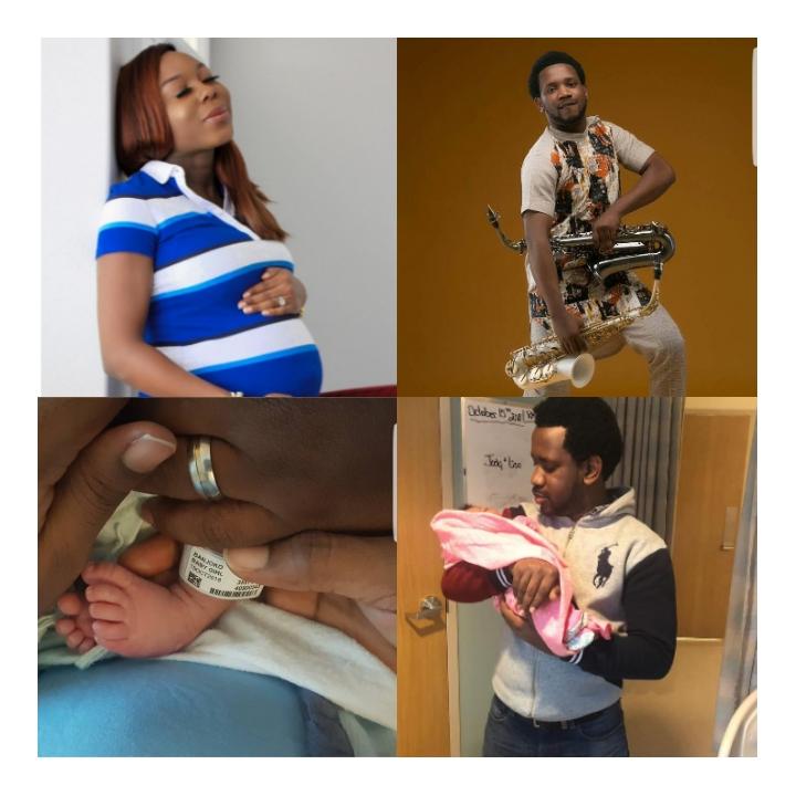 "Nigerian Saxophonist ""BeejaySax"" welcomes a bouncing baby girl in Regina, Canada"