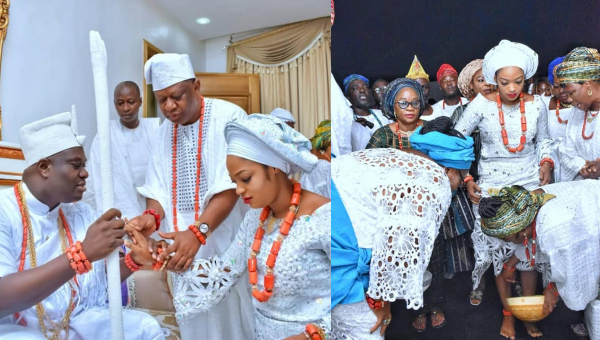 Photos From The Wedding of Ooni of Ife And Prophetess Naomi Oluwaseyi