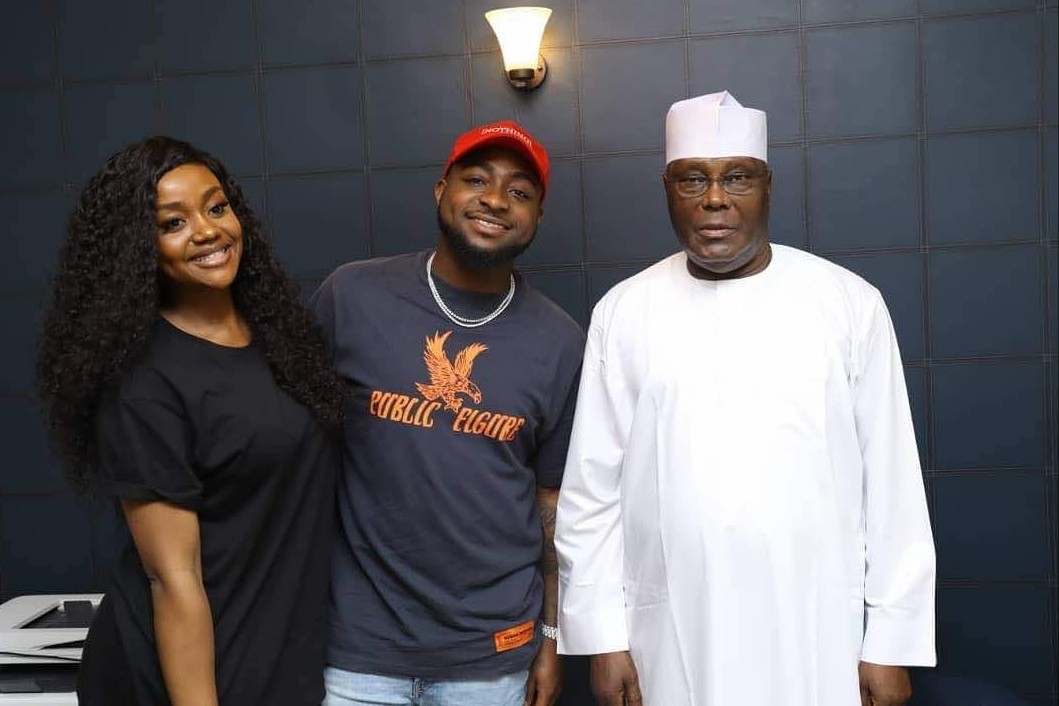 Davido And Chioma Meets Atiku Abubakar