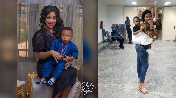 Tonto Dikeh Reveals How She Almost Lost Her Son Three Week Ago