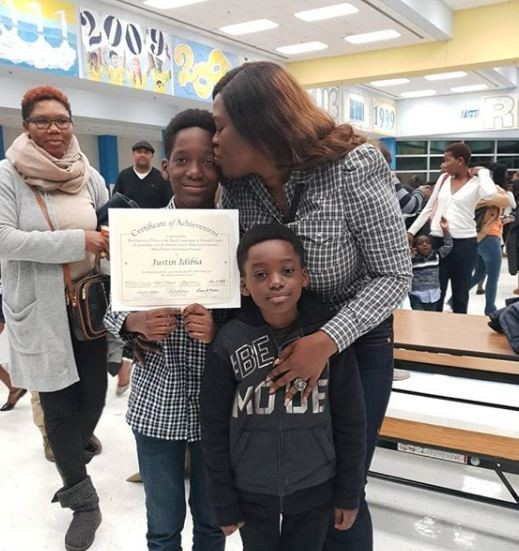 [PHOTOS] 2face Idibia's Son Bags 'Black Students Achievement Award' In US