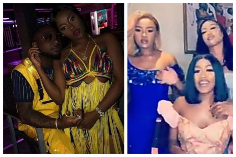 Davido Shares Clip Of Chioma And Her Sisters
