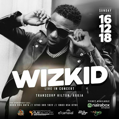 el' Carnaval Presents : Wizkid Live In Concert
