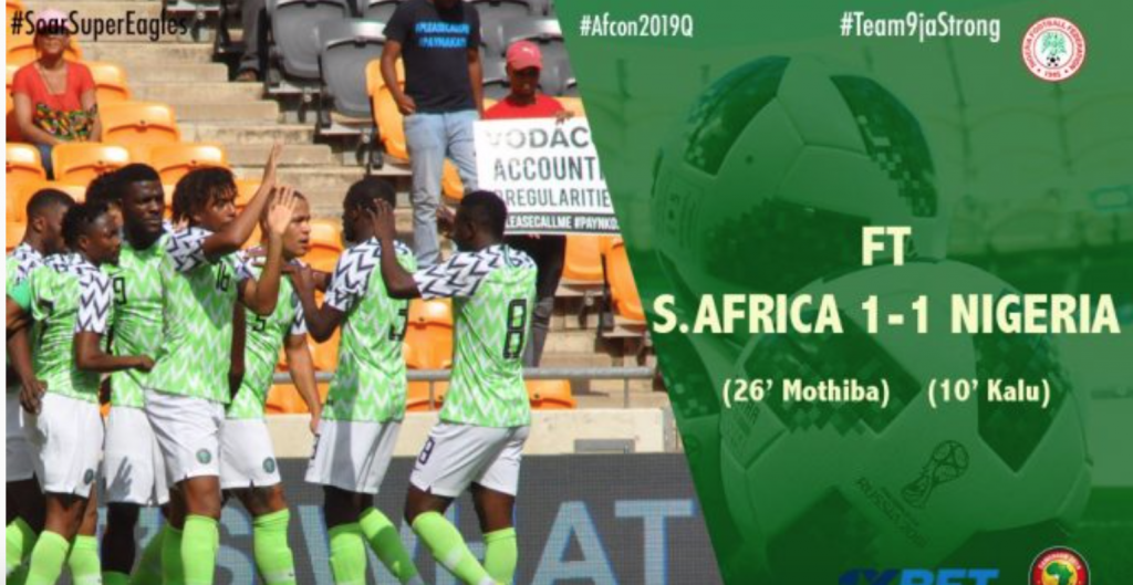 Super Eagles Qualify For AFCON 2019