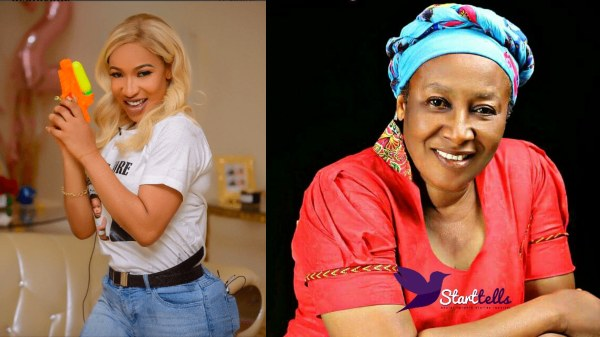Tonto Dikeh Reacts To Patience Ozokwor's Claim On Christianity