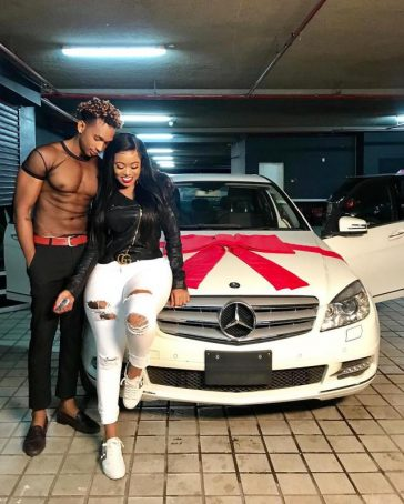 [PHOTOS] Vera Sidika Buys New Boyfriend A Car