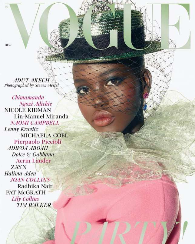 South Sudanese model Adut Akech is revealed as Vogue's December cover girl