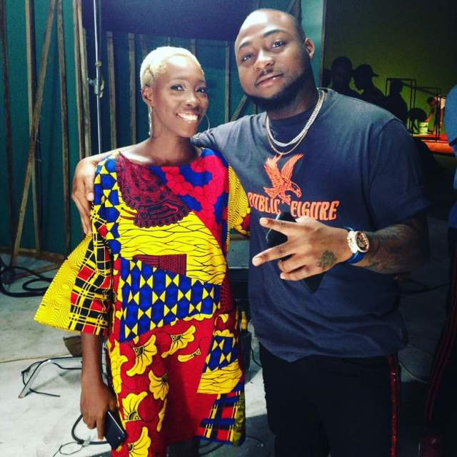 Davido Shows Support For Adetutu Alabi, The Model With Tribal Marks (Photos)