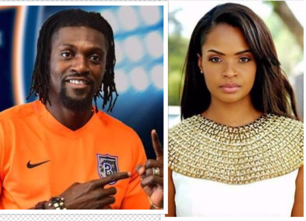 Dillish Matthews And Emmanuel Adebayor Confirm Relationship