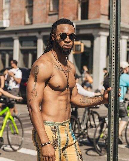 Flavour welcomes son with Sandra Okagbue