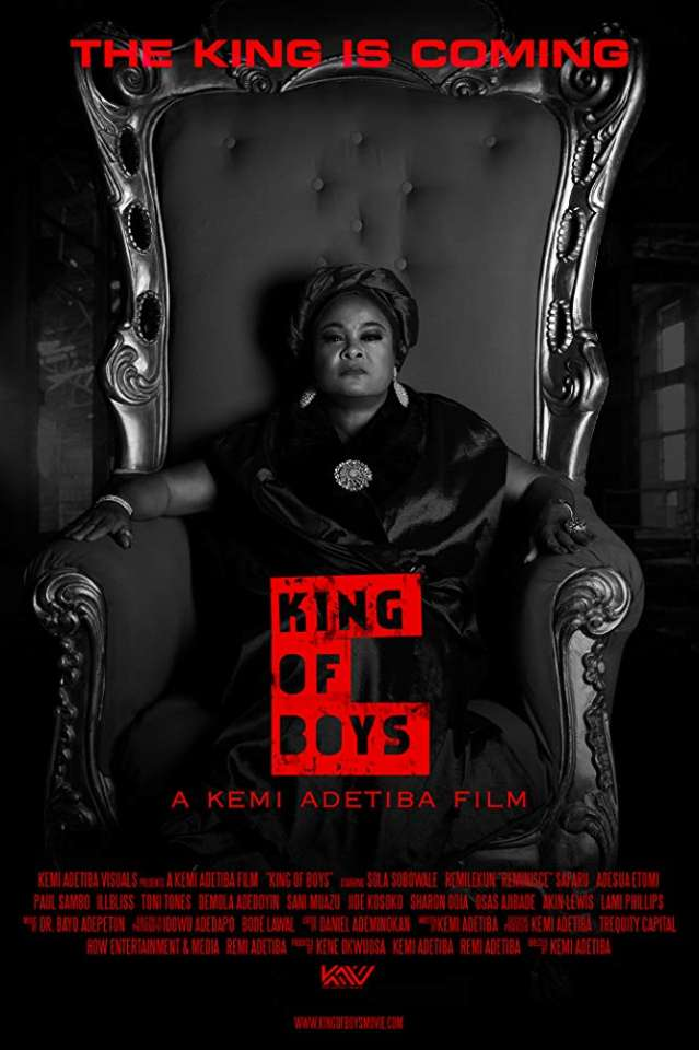 Kemi Adetiba's 'King of Boys' remains number 1 after 5 weeks at the cinema