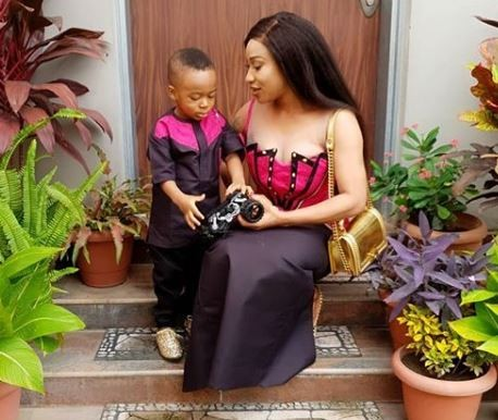 Tonto Dikeh Writes On Her Son Calling Strangers Aunty And Uncle