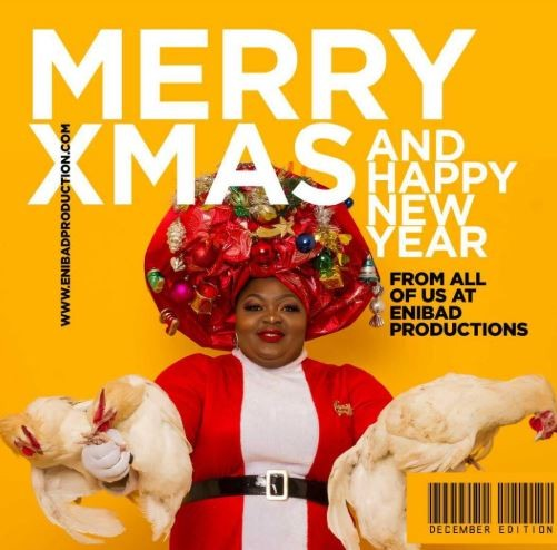 [PHOTOS] Eniola Badmus Poses With Live Chickens In Christmas Shoot
