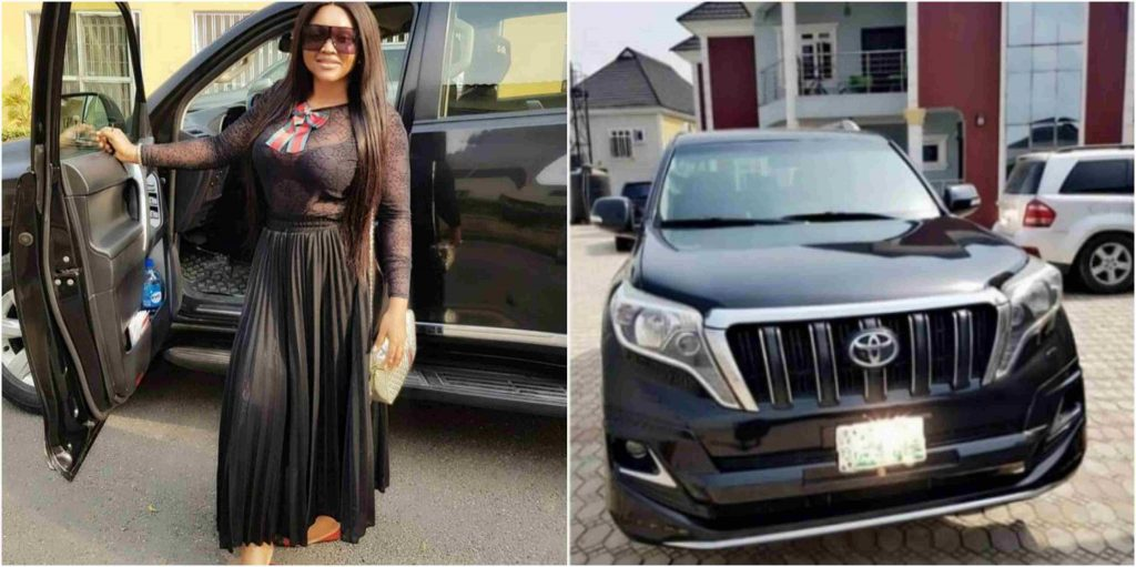 Fans React To Mercy Aigbe's Acquisition Of Prado Jeep