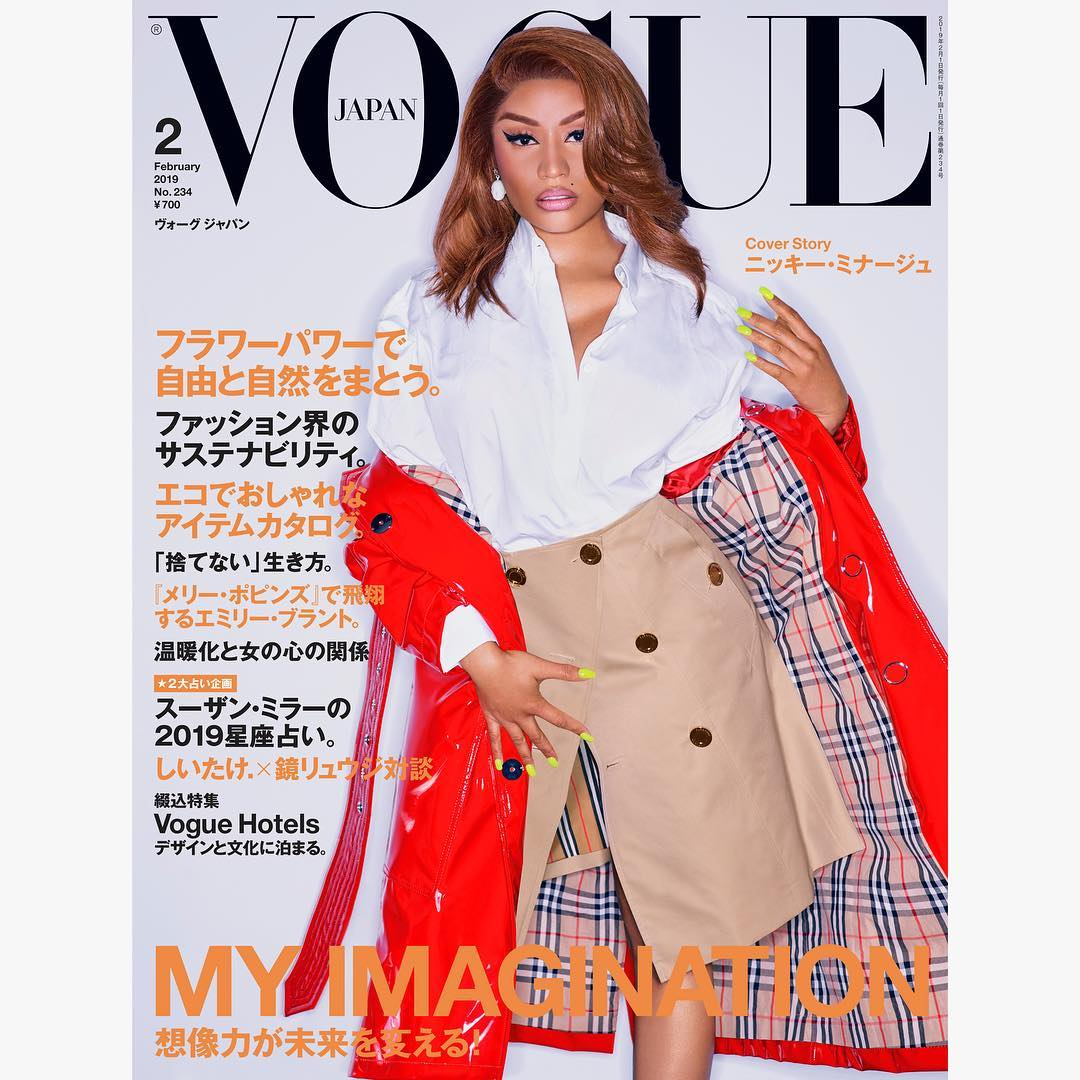 [PHOTOS] Nicki Minaj Covers Vogue Japan's February 2019 Issue