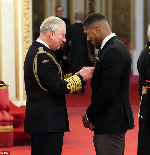 Prince Charles Honours Anthony Joshua With OBE