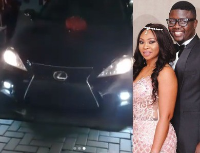 [VIDEO] Seyi Law Surprises Wife With A Lexus Car For Her Birthday