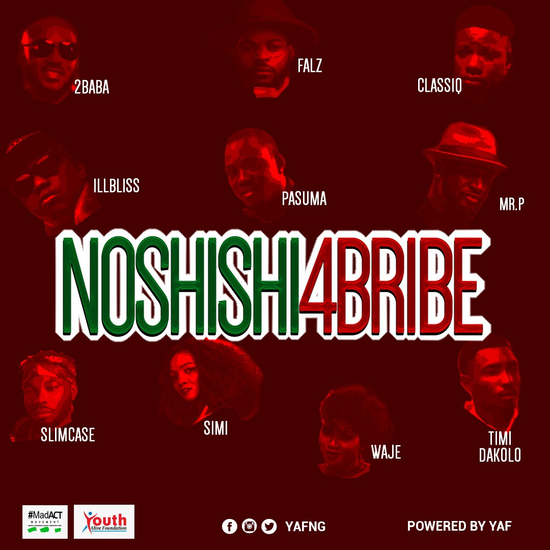 VIDEO: 2Baba, Simi, Pasuma, Falz & Others – No Shishi 4 Bribe