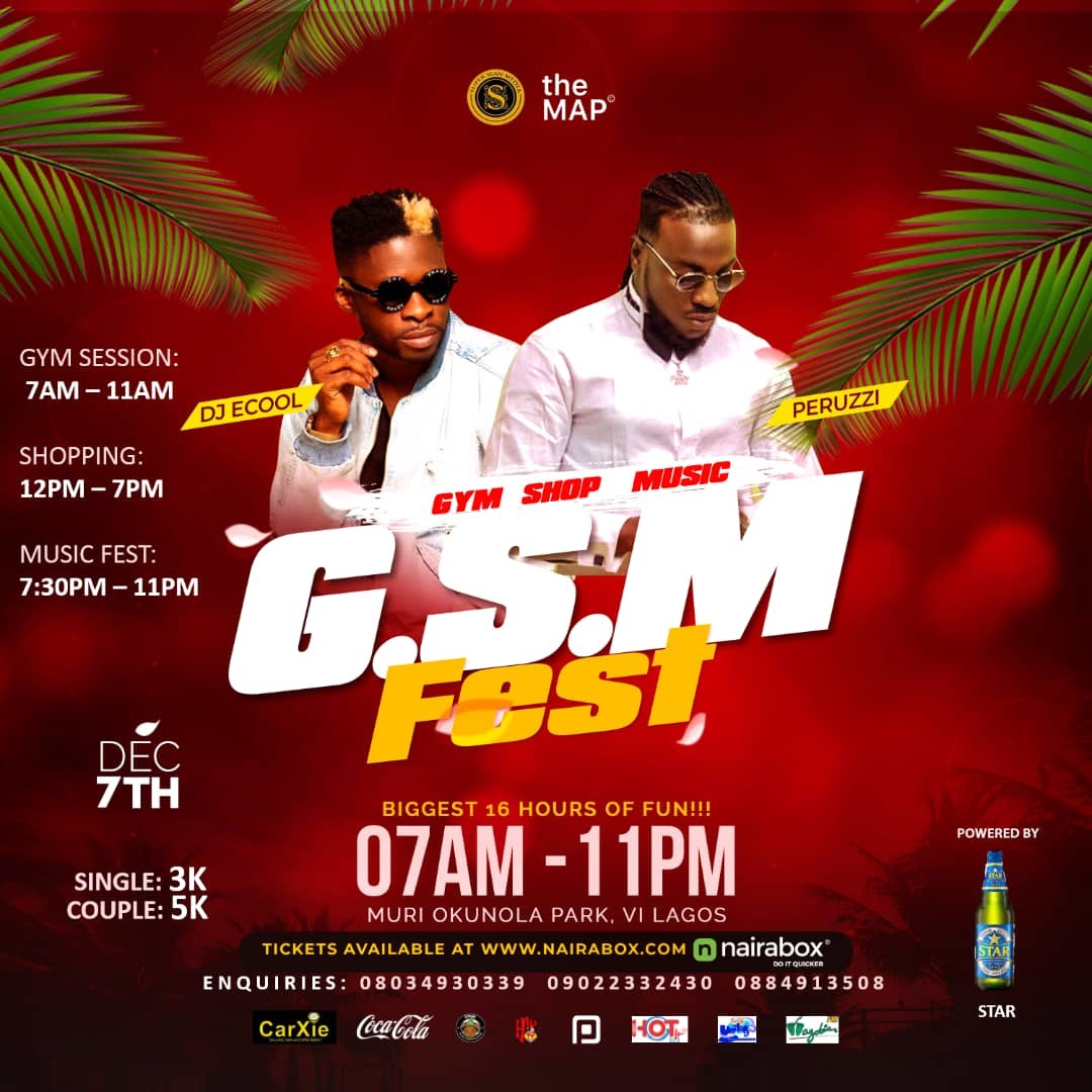 PERUZZI & DJ ECOOL set to shutdown LAGOS with the GYM, SHOP & MUSIC FEST.