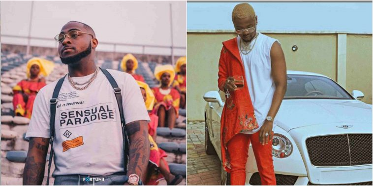 Kizz Daniel Unfollows Davido On Instagram