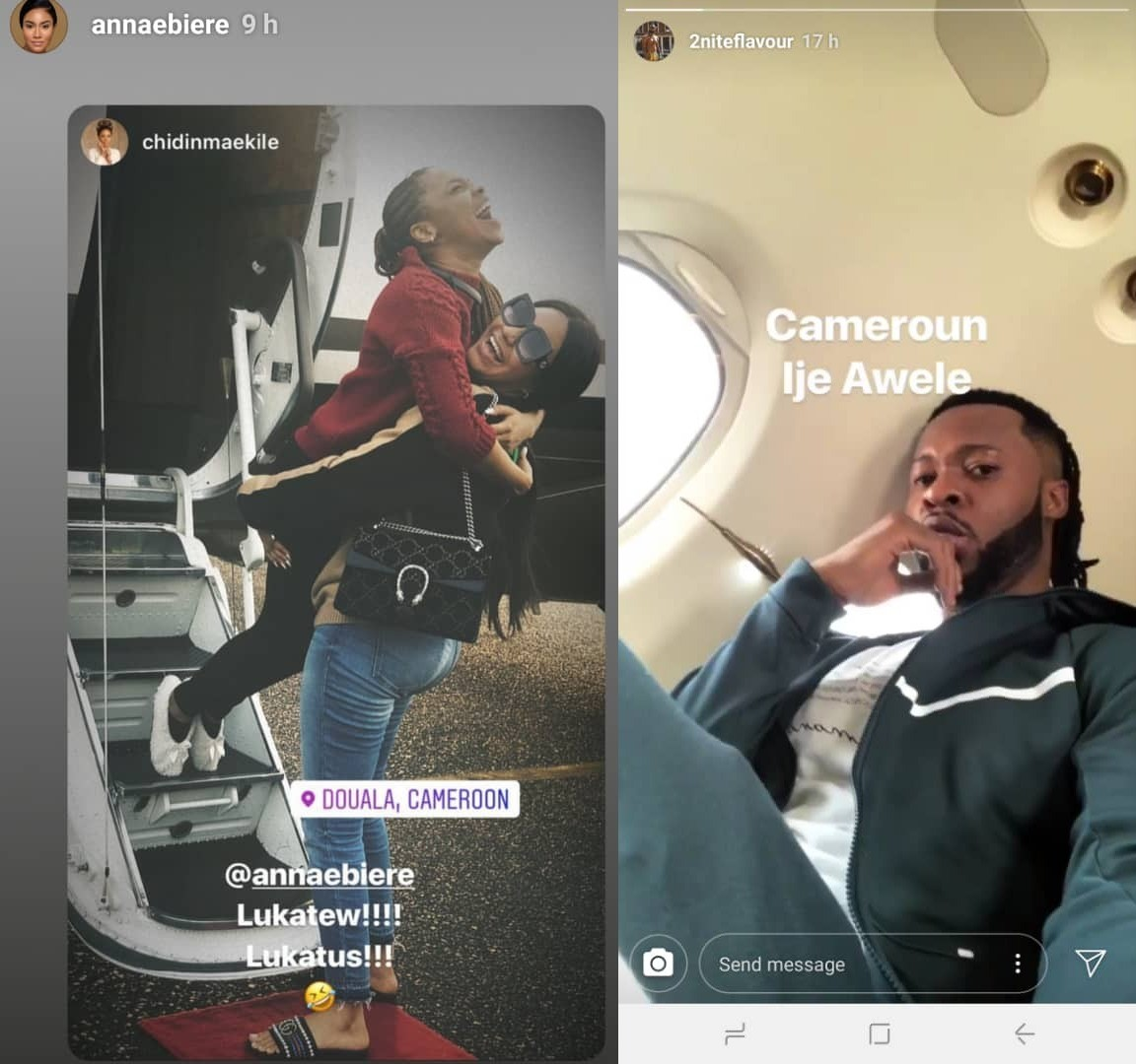 Flavour And Anna Banner Travel To Cameroon For A Show |SEE PHOTOS