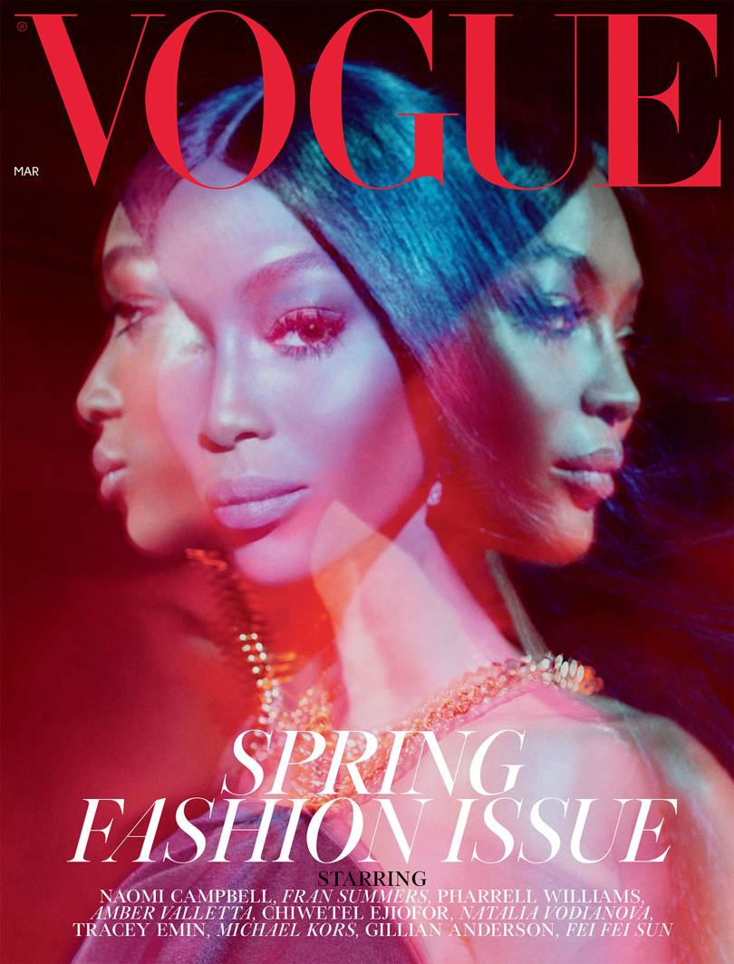 [PHOTOS] Naomi Campbell Covers The March Issue of British Vogue
