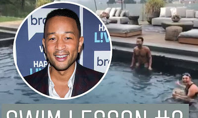John Legend Shares Video Of Self Learning To Swim