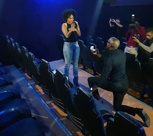 Sauti Sol's Bien Baraza Rents Cinema Hall To Propose To Longtime Nigerian girlfriend, Chiki Onwukwe