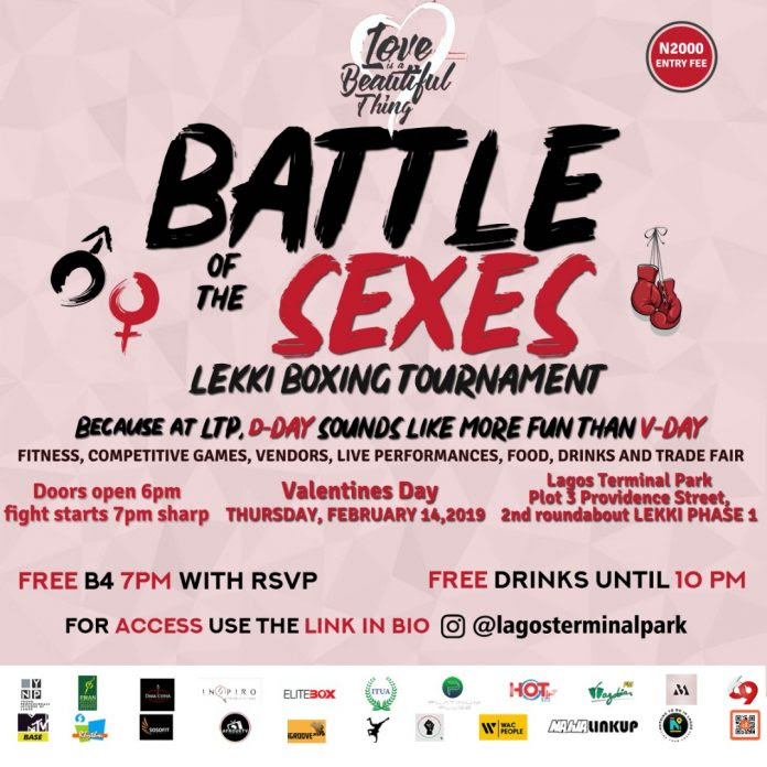 "Event: This Valentine: Lagos Terminal Park Brings ""Battle of the Sexes"" To Lekki For The First Time."
