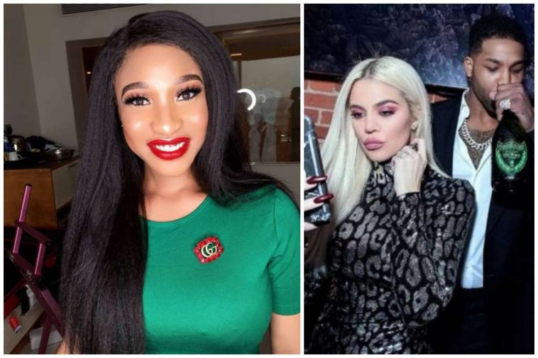 Tonto Dikeh Reacts To Khloe Kardashian And Tristan Thompson's Break Up