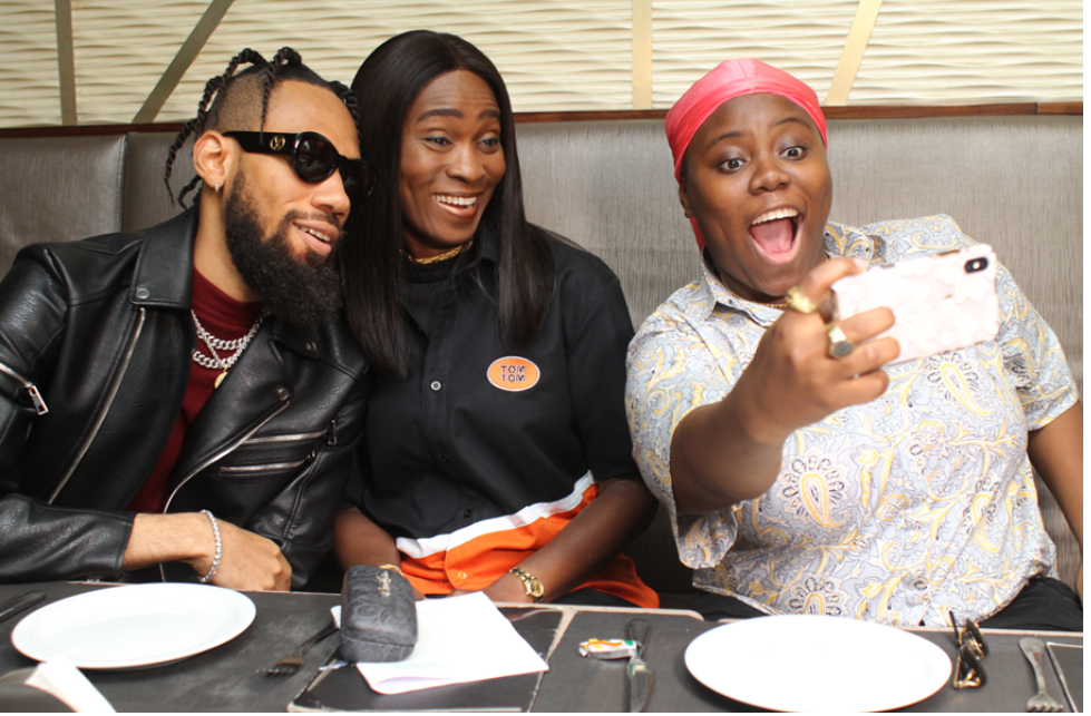 [PHOTOS] Phyno And Teni the Entertainer Bag TomTom Ambassadorship Deals