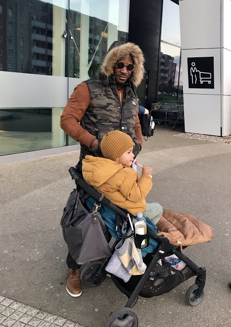 Photos: Singer Jaywon Visits Son In Europe