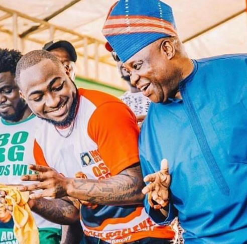 Davido Reacts To Senator Adeleke's Election Nullification