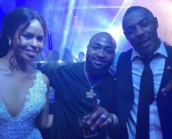 Davido Delivers Surprise Performance At Idris Elba And Sabrina Dhowre's Wedding