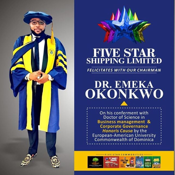 University E-Money Received Honorary Doctorate From Revealed