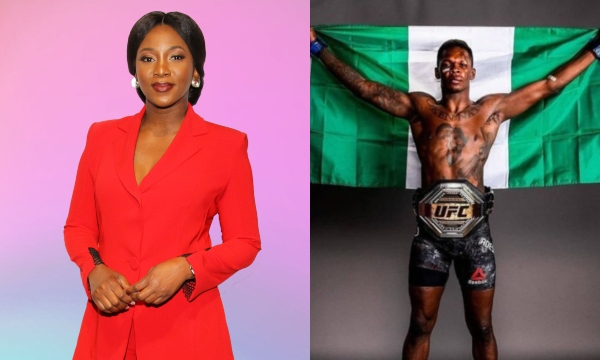 Genevieve Nnaji Congratulates Israel Adesanya On UFC Middleweight Interim Belt
