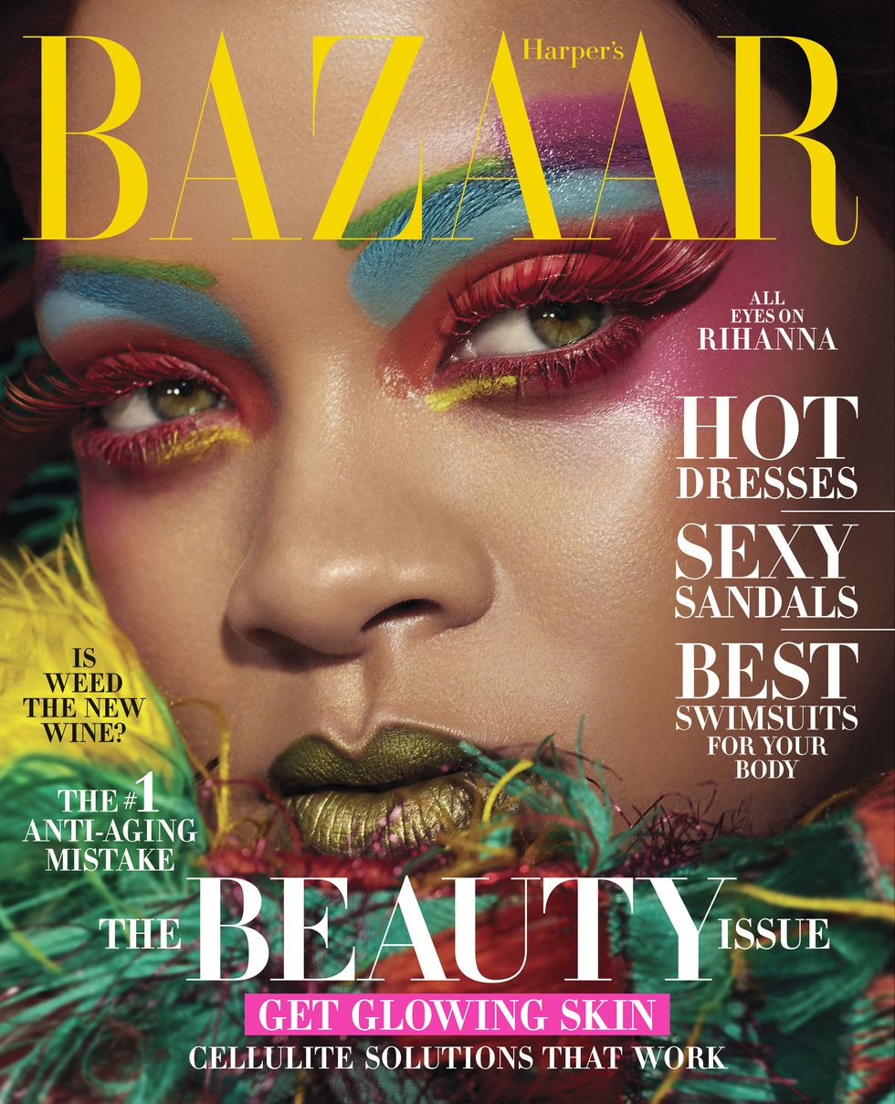 [PHOTOS] Rihanna Is A Work of ART As She Covers Harper's Bazaar's The Beauty Issue