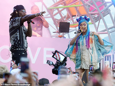Cardi B Delights Fans With Surprise Performance As She Joins Offset On Stage