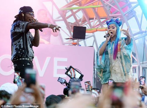 Cardi B & Offset Shared Passionate Kiss On Stage At The Revolve Festival