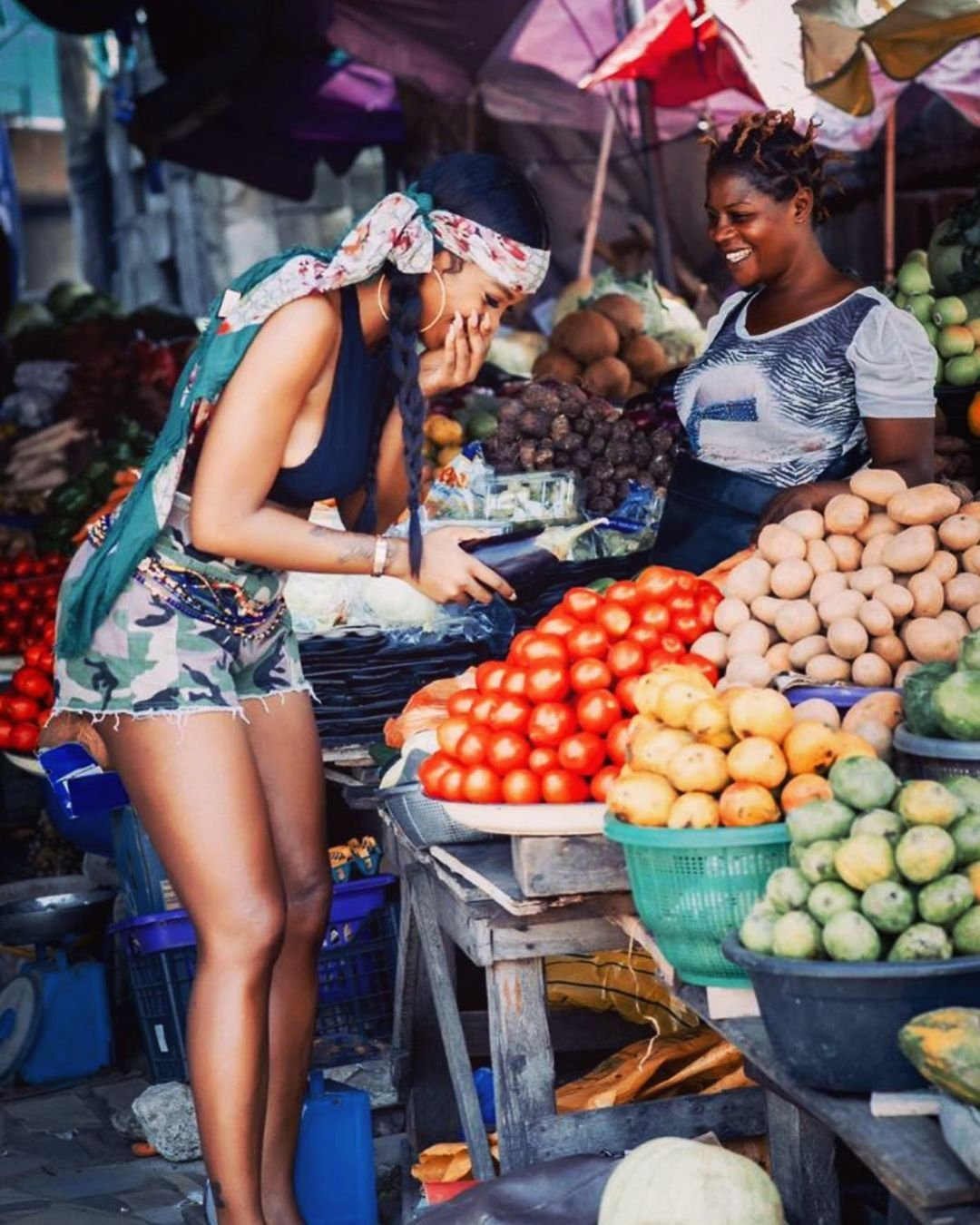 Tiwa Savage's Market Photos Are Definitely Picture Goals